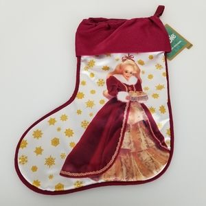 Hallmark Barbie Holiday Stocking NWT